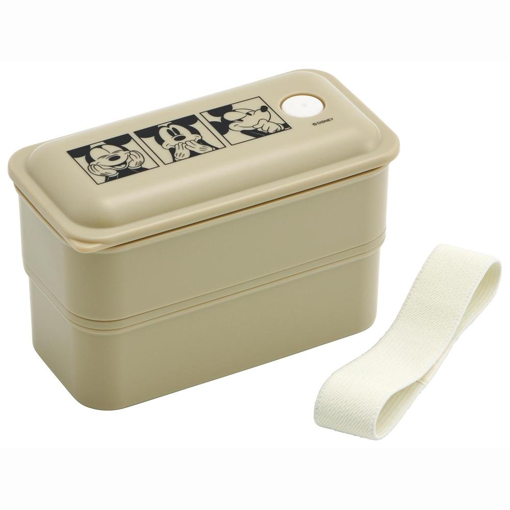 抗菌パッキン一体型2段ふわっと弁当箱〔総容量550ml〕 ミッキーマウス  PALW6AG