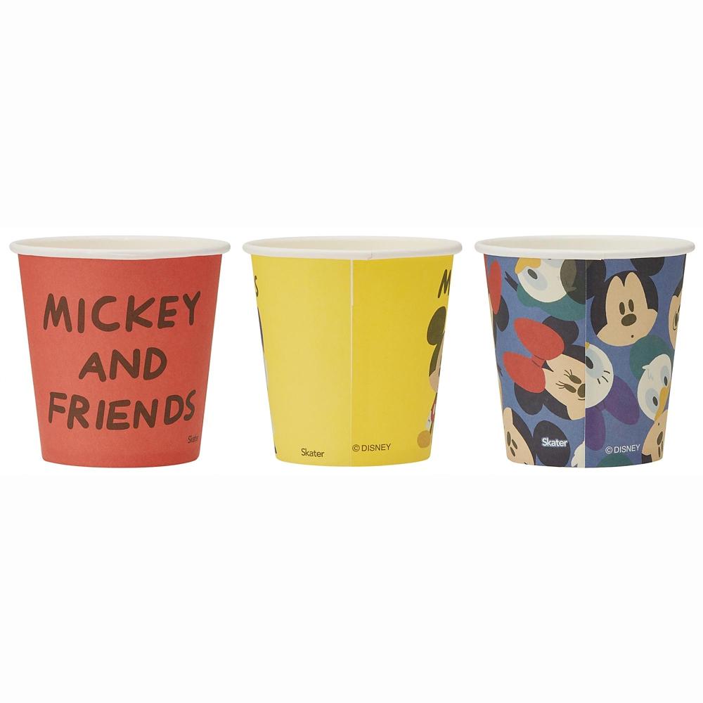 ペーパーカップ(100ml)[3柄×6個] ミッキー&フレンズ PWC2