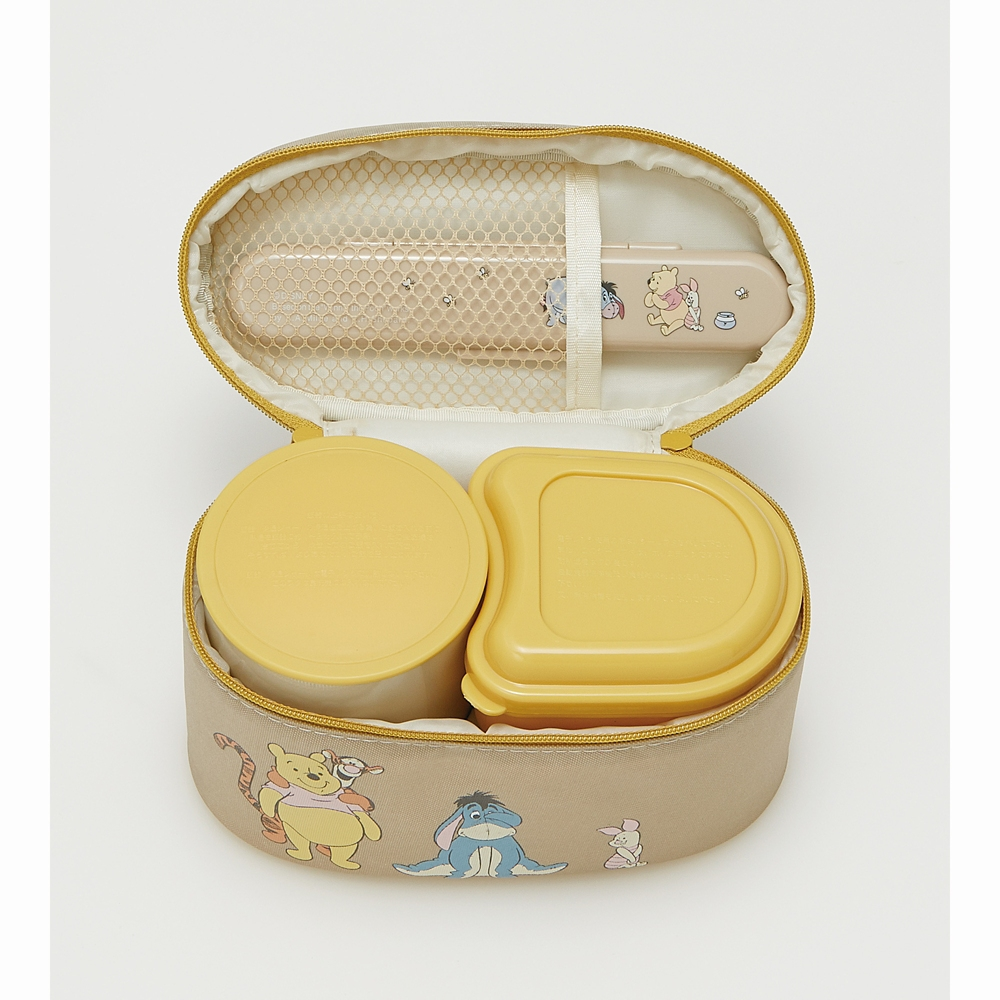 抗菌保温ジャー付きランチボックス[総容量560ml] くまのプーさん スモーキーカラー KCLJC6AG