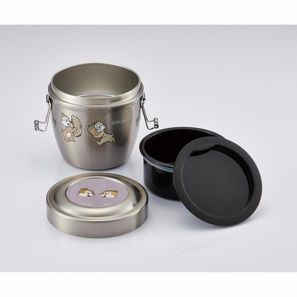 抗菌真空ステンレス丼ランチジャー[総容量:550ml] チップ&デール スモーキーカラー STLBD6AG