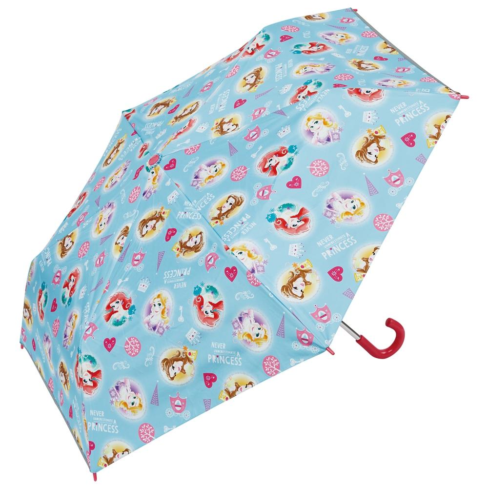 子供用晴雨兼用 折りたたみ傘(50cm) プリンセス UBOTSR1