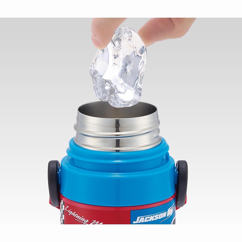 キャップを替えて使い方2通り超軽量コンパクト2WAYステンレスボトル カーズ 22 SKDC4