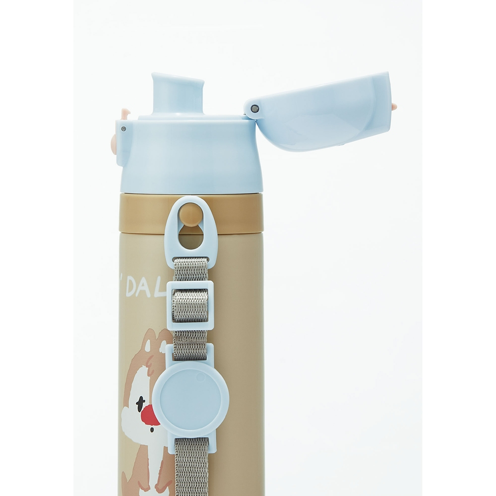 ロック付きワンプッシュダイレクトステンレスボトル470ml チップ&デール くすみキュート SDC4