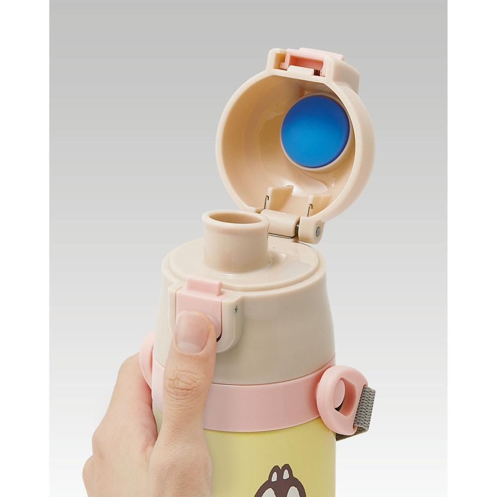 キャップを替えて使い方2通り超軽量コンパクト2WAYステンレスボトル チップ&デール くすみキュート SKDC4