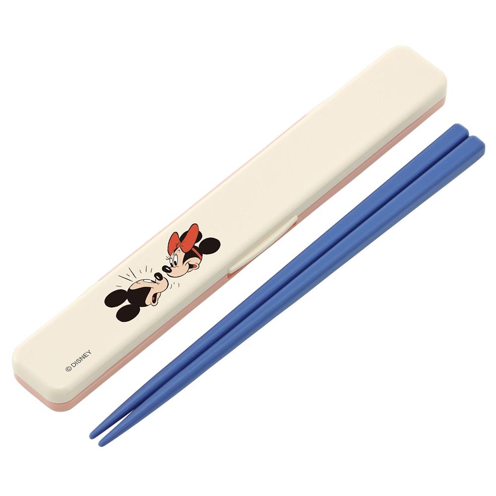 抗菌カチャカチャ音が鳴らないハシバコセット(箸:18cm) ミッキー モダンコミック ABC3AG