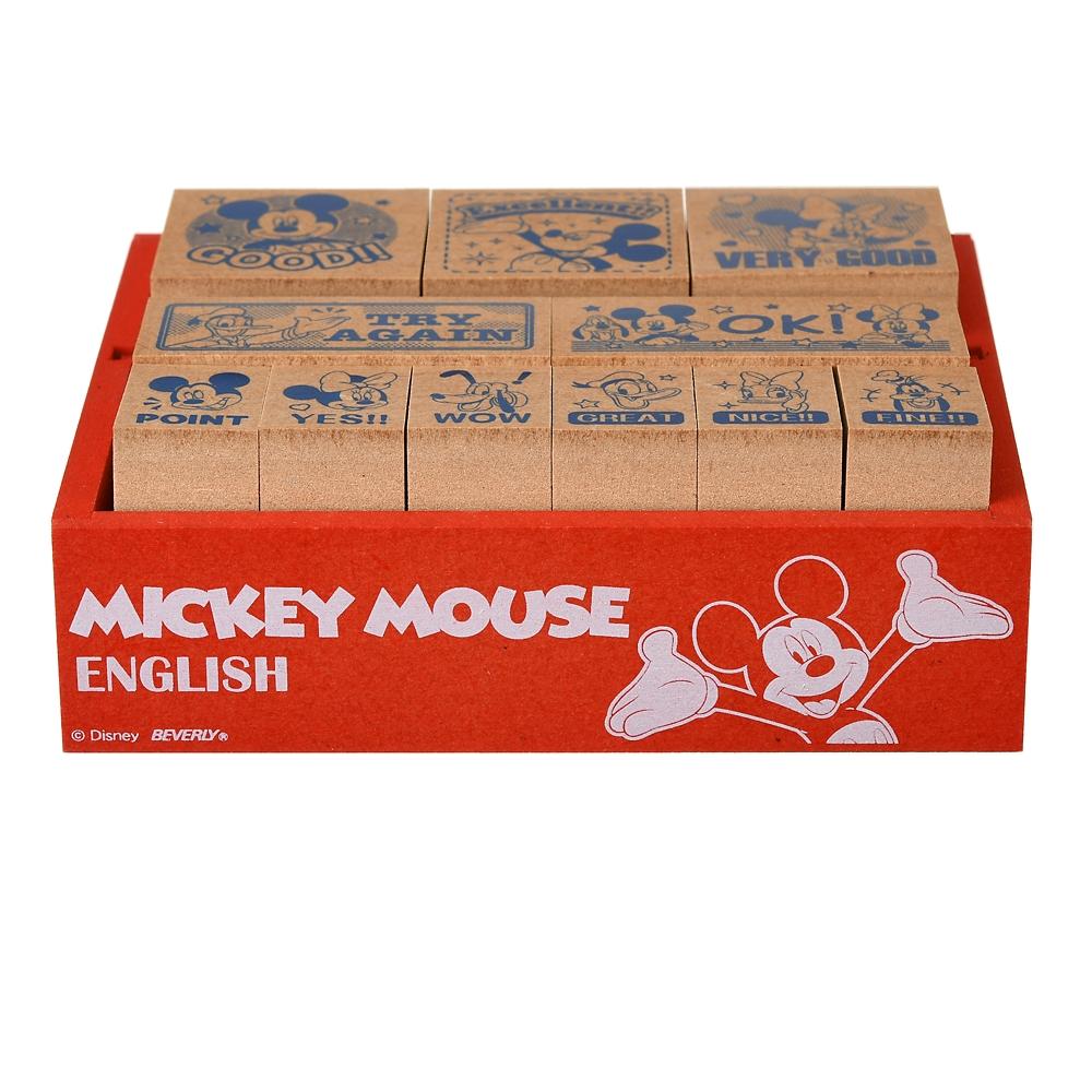 ミッキー 木製のごほうびスタンプ ENGLISH