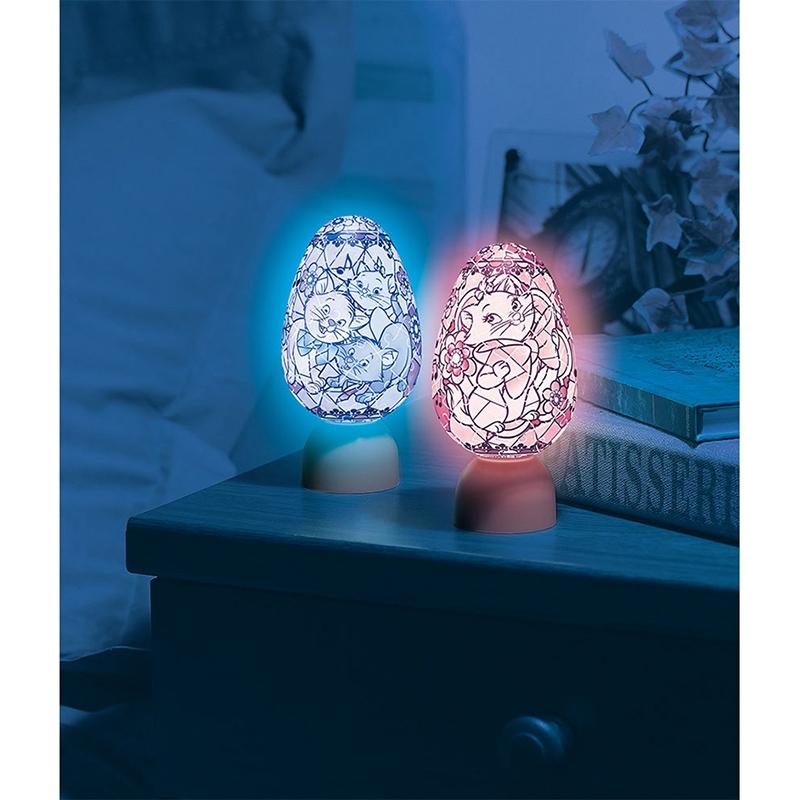 パズル LEDライト おしゃれキャット ジュエル パズランタンエッグ
