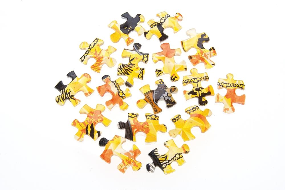 ジグソーパズル やのまん ツイステ ランプシェードパズル(透明プラスチック製ピース)立体 80ピース サバナクロー寮 10cm×7cm×10cm LED台座付