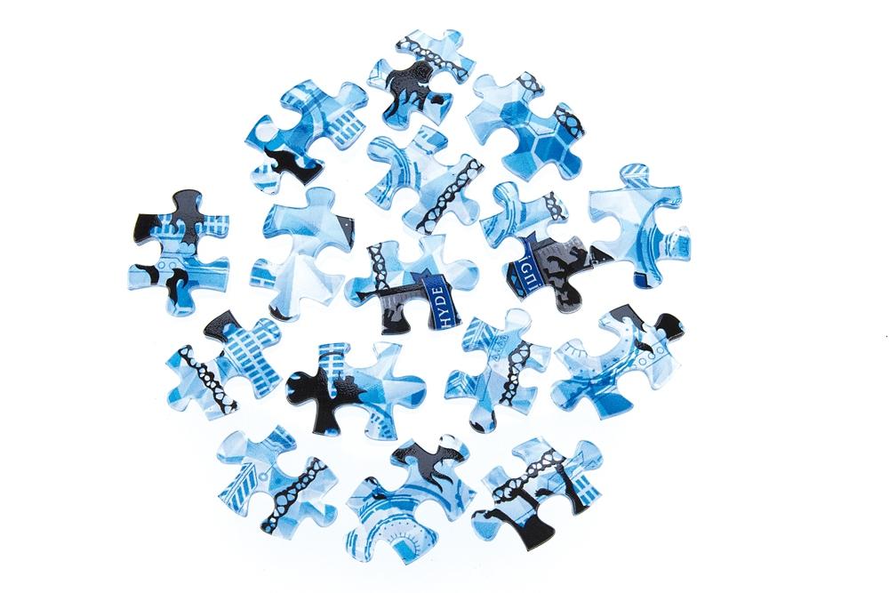 ジグソーパズル やのまん ツイステ ランプシェードパズル(透明プラスチック製ピース)立体 80ピース イグニハイド寮 10cm×7cm×10cm LED台座付