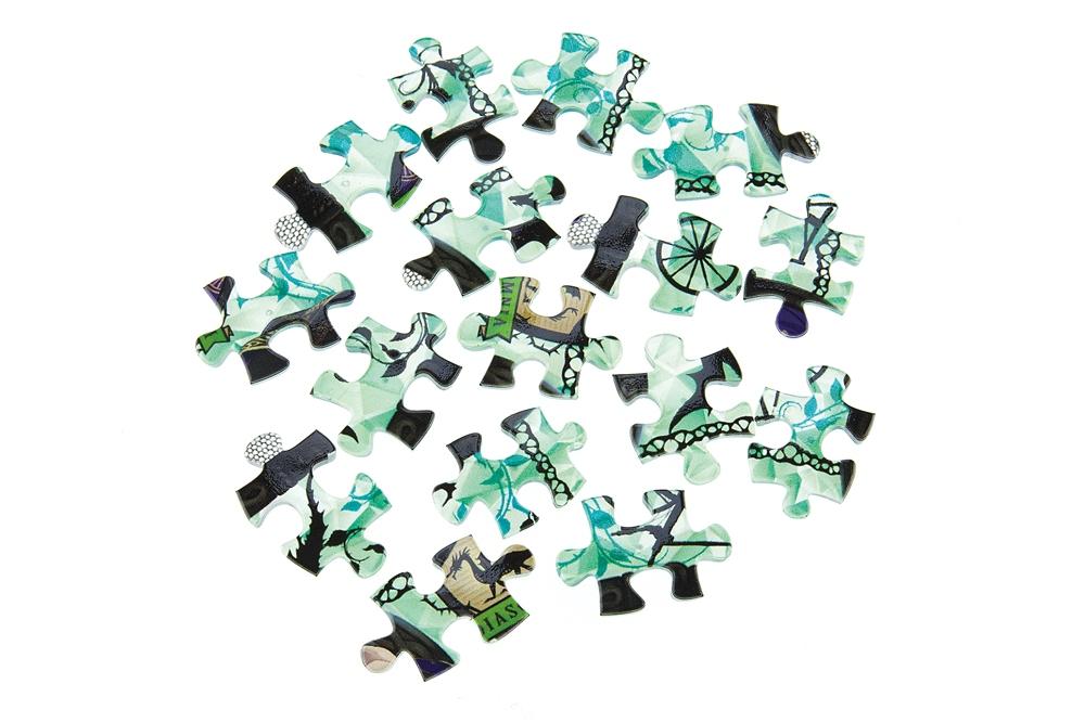 ジグソーパズル やのまん ツイステ ランプシェードパズル(透明プラスチック製ピース)立体 80ピース ディアソムニア寮 10cm×7cm×10cm LED台座付
