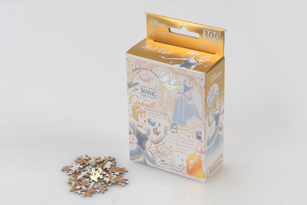 ジグソーパズル やのまん シンデレラ プチ2ライトパズル(プチライトサイズピース) 300ピース カラフル・ゴールド/シンデレラ 16.5×21.5cm