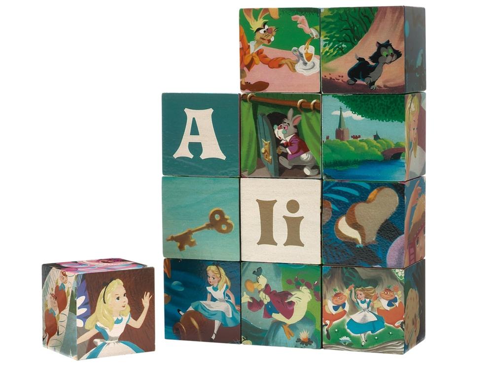 やのまん WOODISPLAY キューブパズル12ピース アリス キューブ3.5cm角×12個 木製