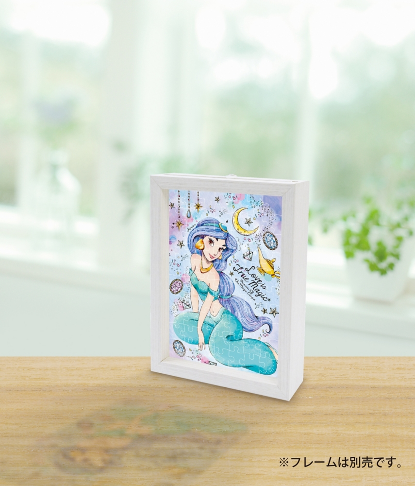 ジグソーパズル やのまん アラジン プリズムアート・プチ(透明ピース プチサイズピース) 70ピース 愛こそ真の魔法 ジャスミン 10×14.7cm