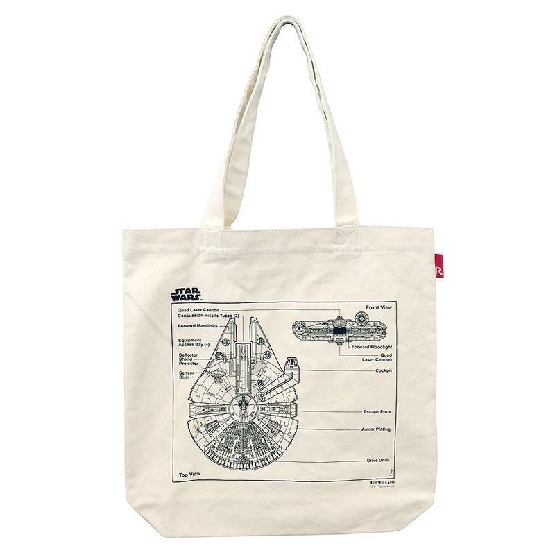 【ROOTOTE】トートバッグ スター・ウォーズ ミレニアム・ファルコン トール Printed in Japan