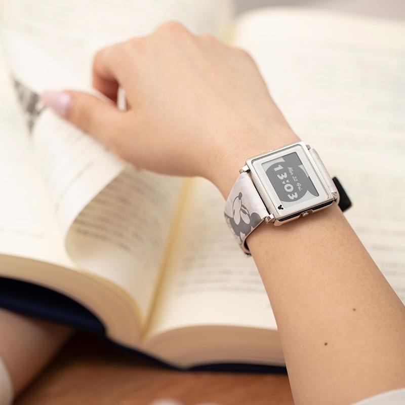 【smart canvas】腕時計・ウォッチ ミッキー グレー ヴィンテージ