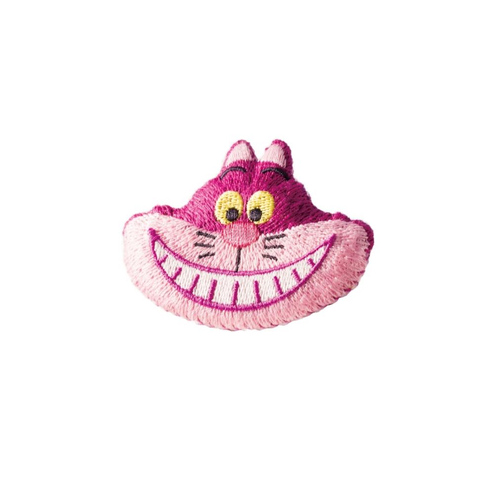 ふしぎの国のアリス チシャ猫 刺繍ブローチ ふんわり チシャ猫