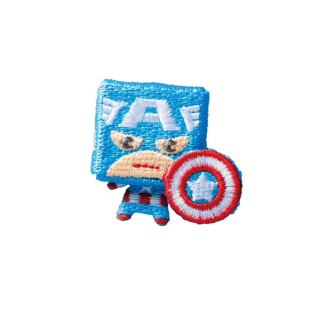 マーベル キャプテン・アメリカ 刺繍ブローチ スクエアキャプテンアメリカ