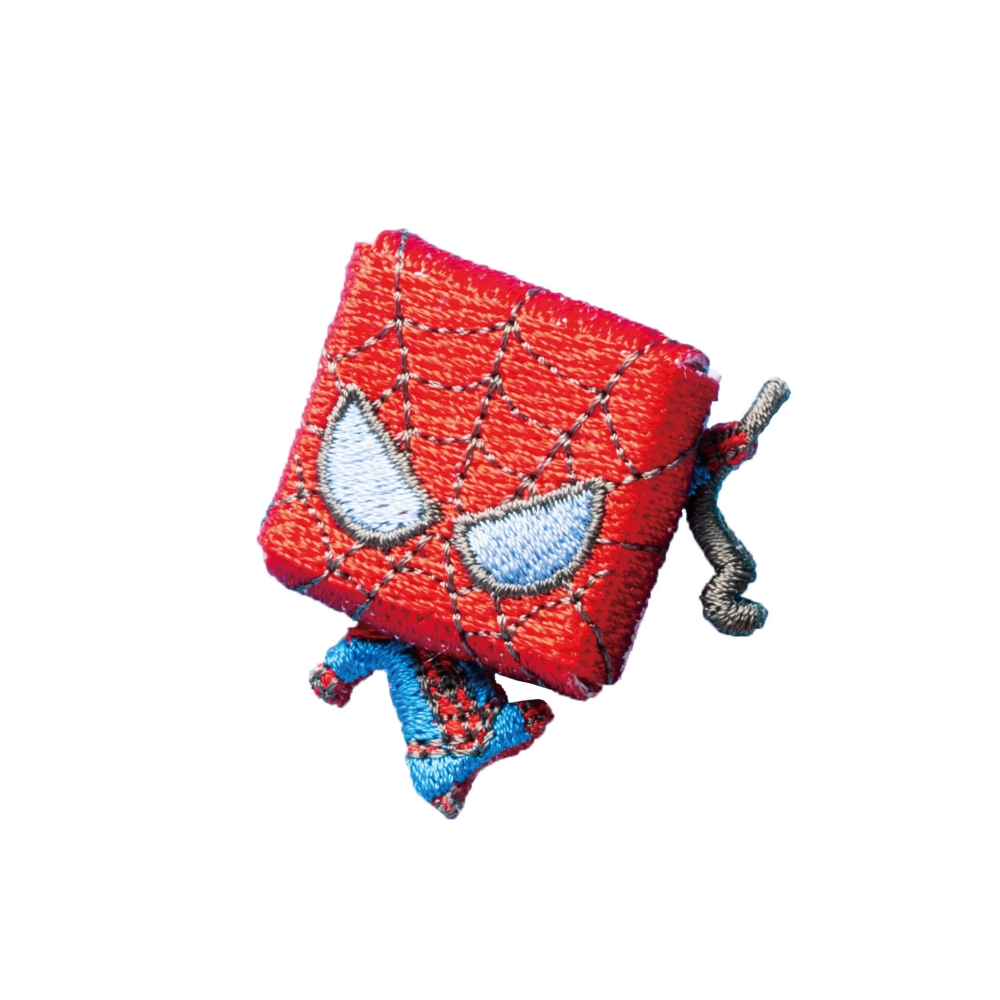 マーベル スパイダーマン 刺繍ブローチ スクエアスパイダーマン