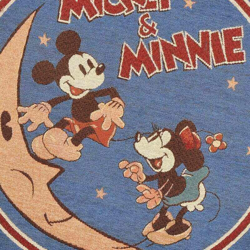 ミッキー&ミニー マット ラウンド ゴールデンエイジ