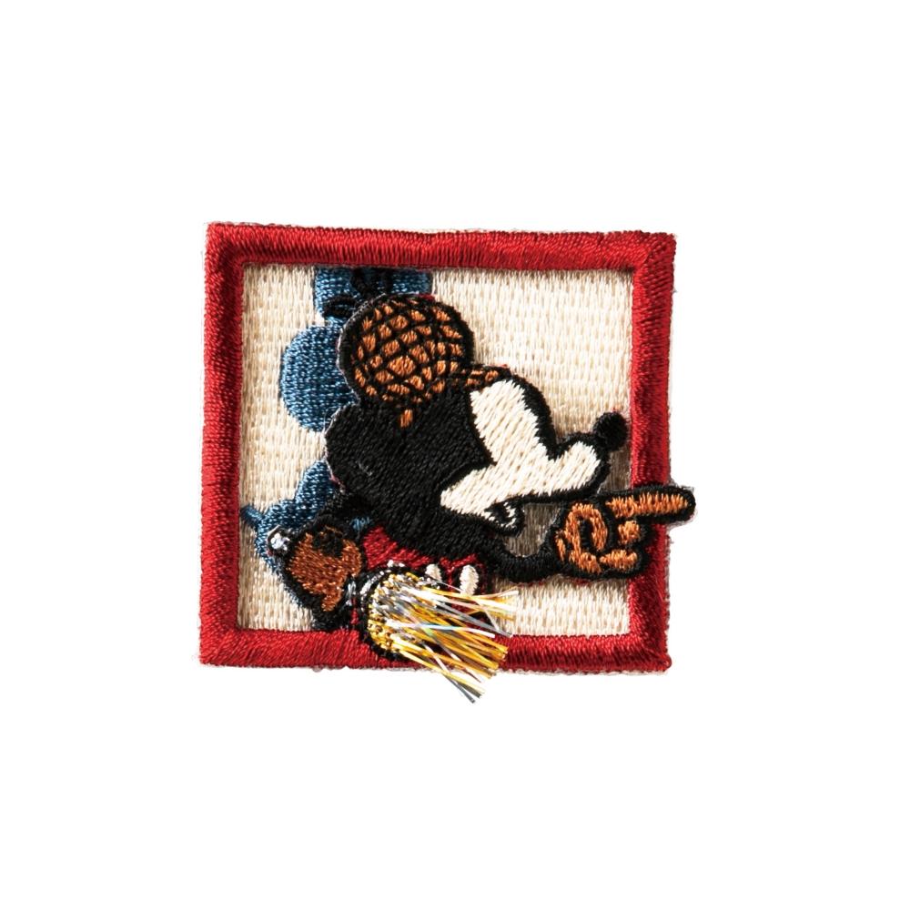 ミッキーマウス 刺繍ブローチ サーチライト