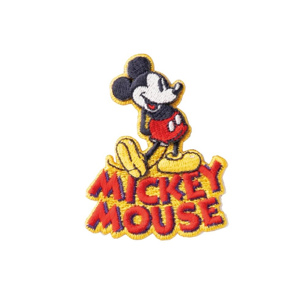 ミッキーマウス 刺繍ブローチ スタンドアイコン