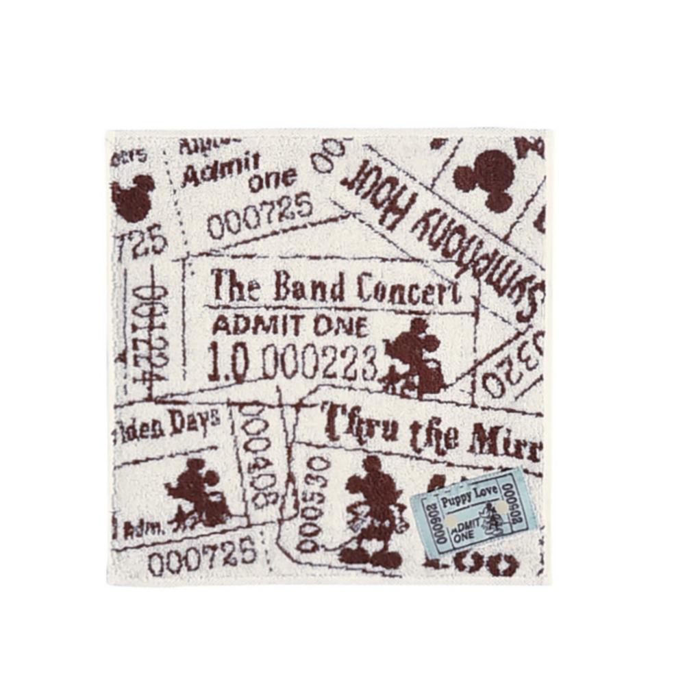 ミッキーマウス タオルギフト ミニタオル 1枚セット レトロブック+ミッキーチケット