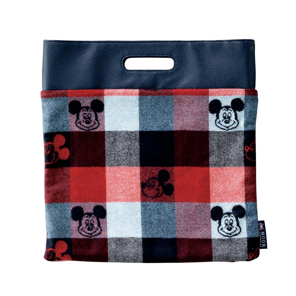 ミッキーマウス×MOON 四角バッグ Lサイズ トラッドチェック