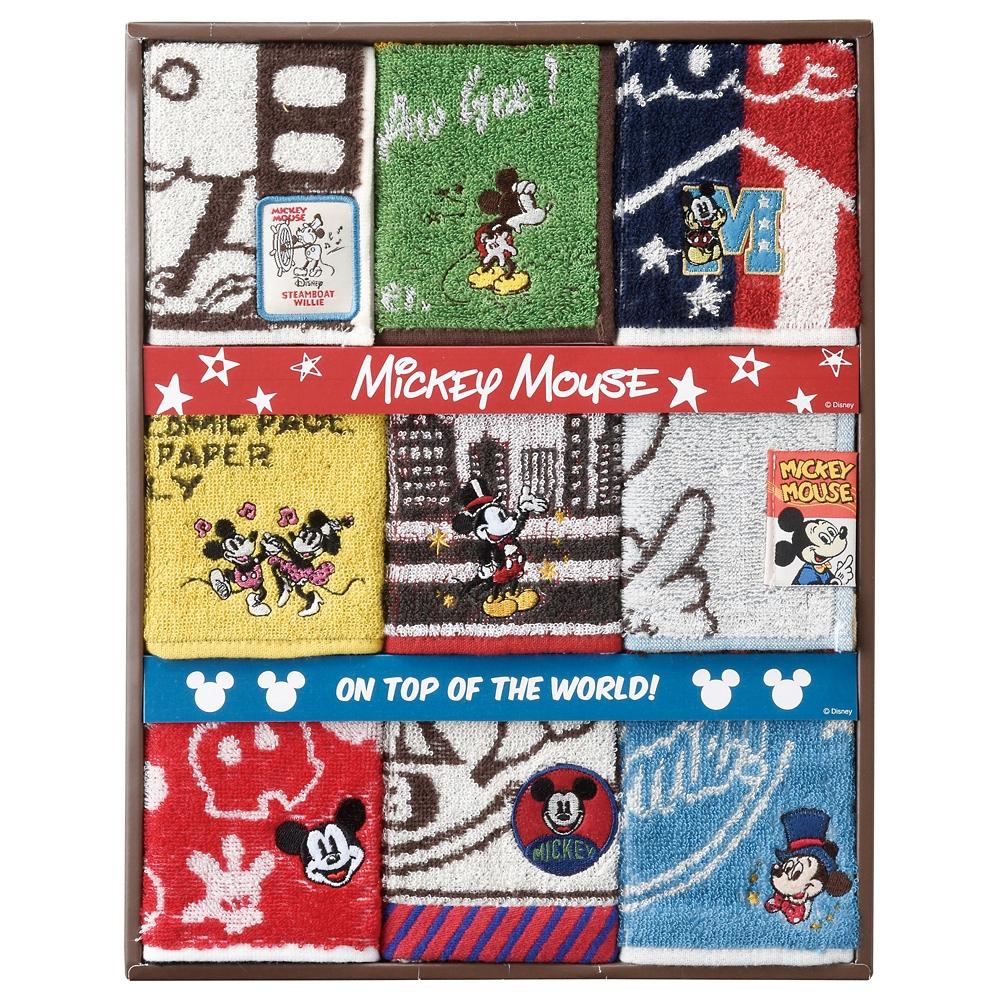 ミッキーマウス タオルギフト ミニタオル 9枚セット ミッキーファン