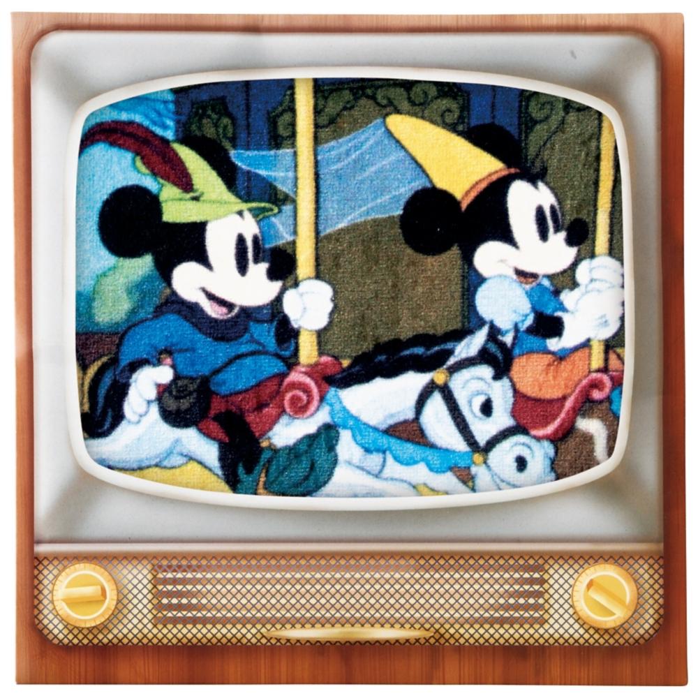 ミッキーマウス ミニタオル メリーゴーランドテレビ