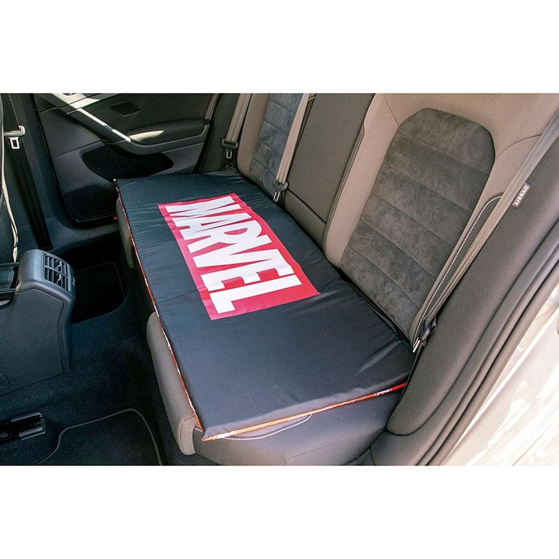 マーベル シートクッション(L) 車用 ブラック センターロゴ