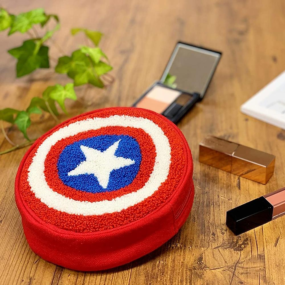 マーベル キャプテン・アメリカ 円型ポーチ パワーシールド
