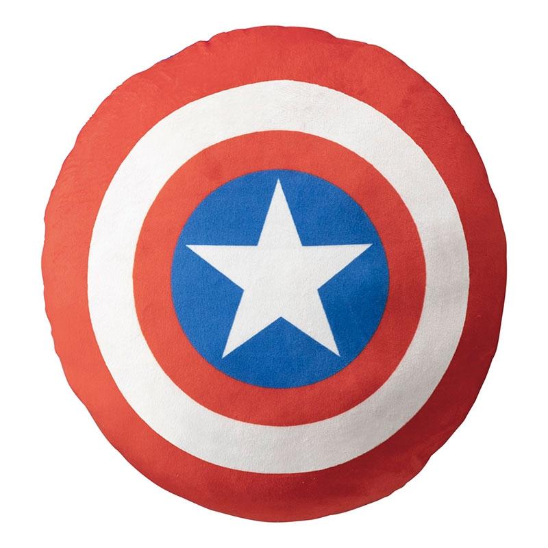 マーベル キャプテン・アメリカ クッション ダイカット もちもち