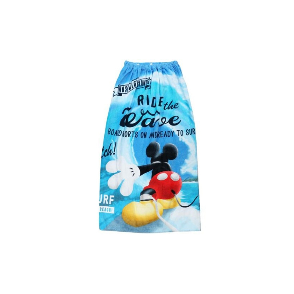 ミッキーマウス 100cm丈巻きタオル グレイトオーシャン
