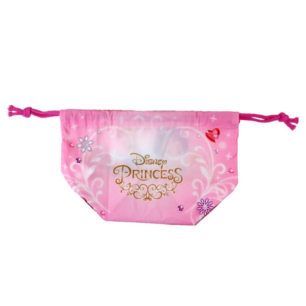 プリンセス マチ付き巾着 ピンクジュエリー