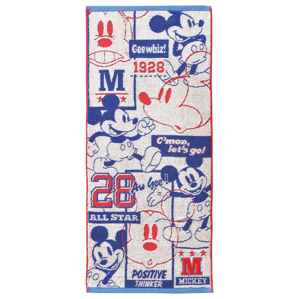 ミッキーマウス フェイスタオル アメリカン/ミッキー