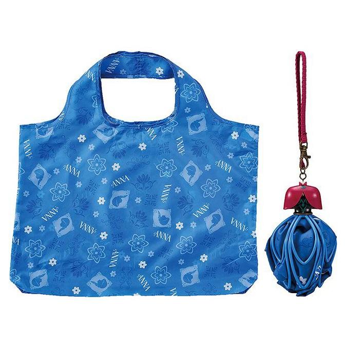 アナ エコバッグ ドレス ブルー アナと雪の女王