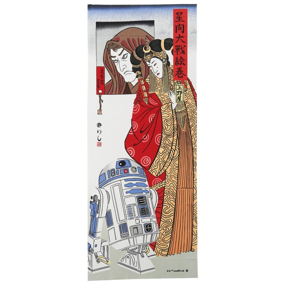 スター・ウォーズ アミダラ/R2-D2 手ぬぐい 浮世絵風/アミダラとR2-D2