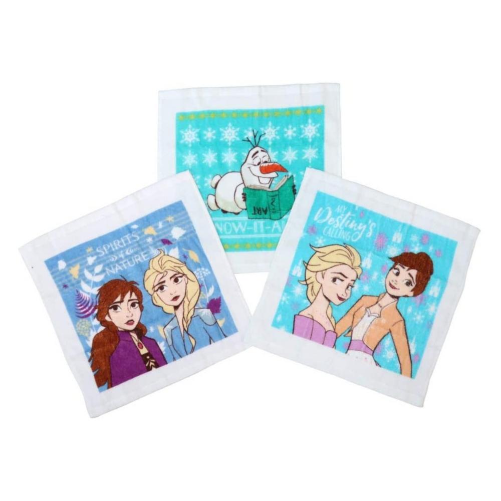 アナと雪の女王 ハンドタオル3枚組 おしぼりケース付き スノーライフ