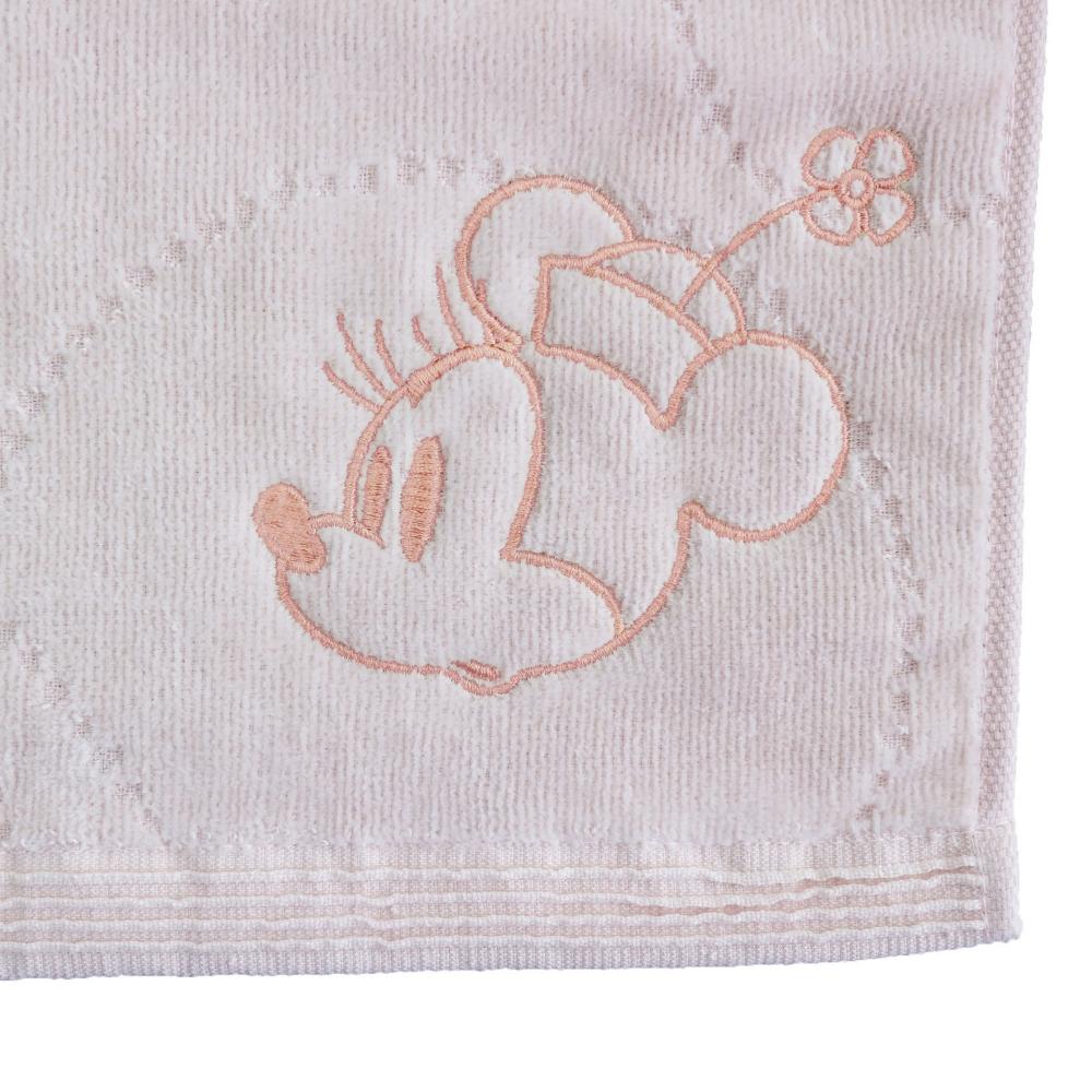 ミニーマウス ウォッシュタオル シンプルピンク