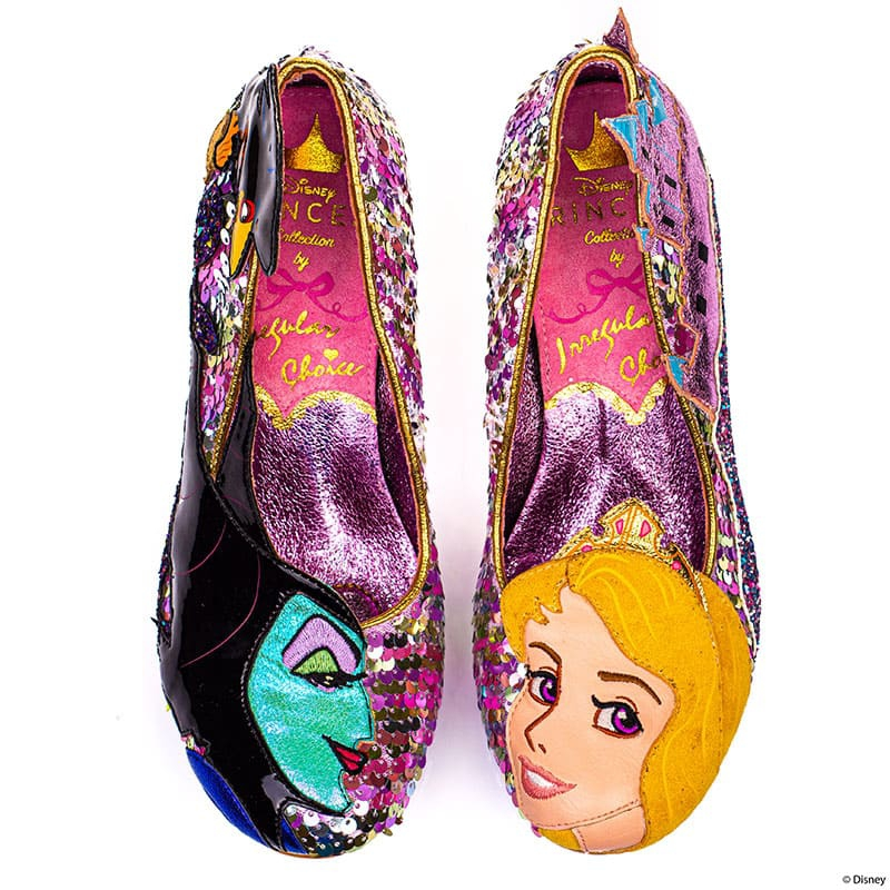 【Irregular Choice】オーロラ姫、マレフィセント レディース用シューズ(23) Touch The Spindle