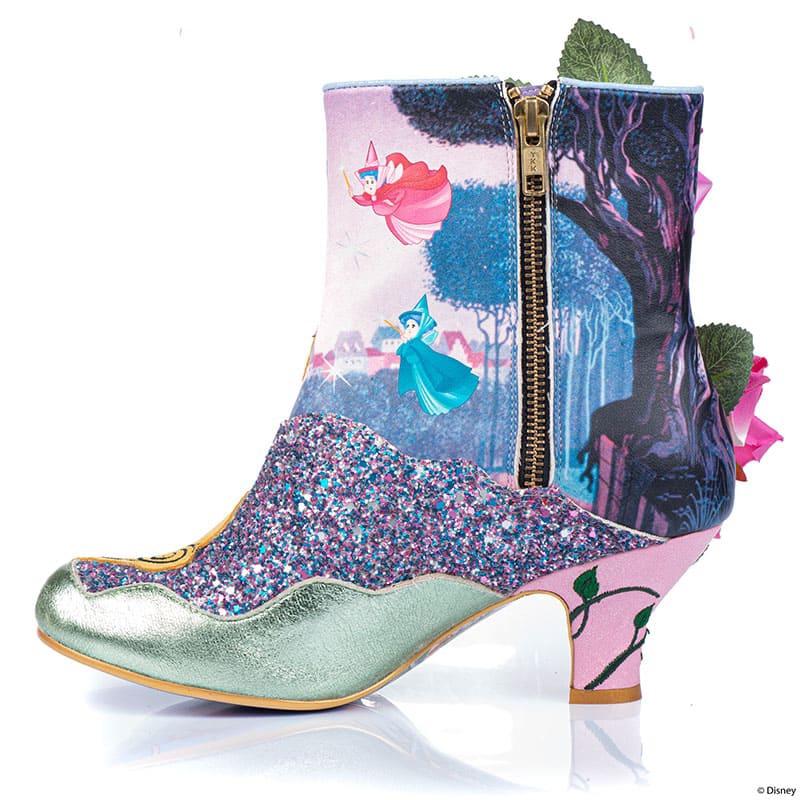 【Irregular Choice】オーロラ姫&メリーウェザー、フォーナ、フローラ レディース用ブーツ(23) Princess Of Beauty