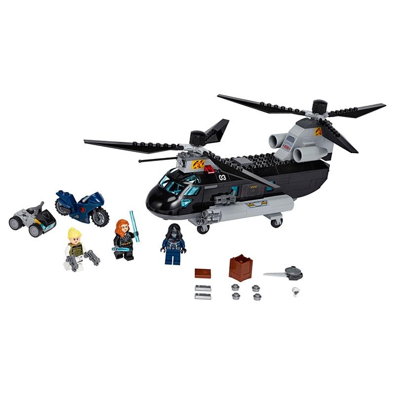 【LEGO】マーベル ブラック・ウィドウ ヘリコプター・チェイス