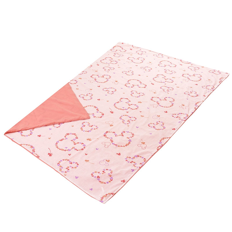 ミッキー 綿混素材の布団カバー3点セット 洋式シングル ピンク