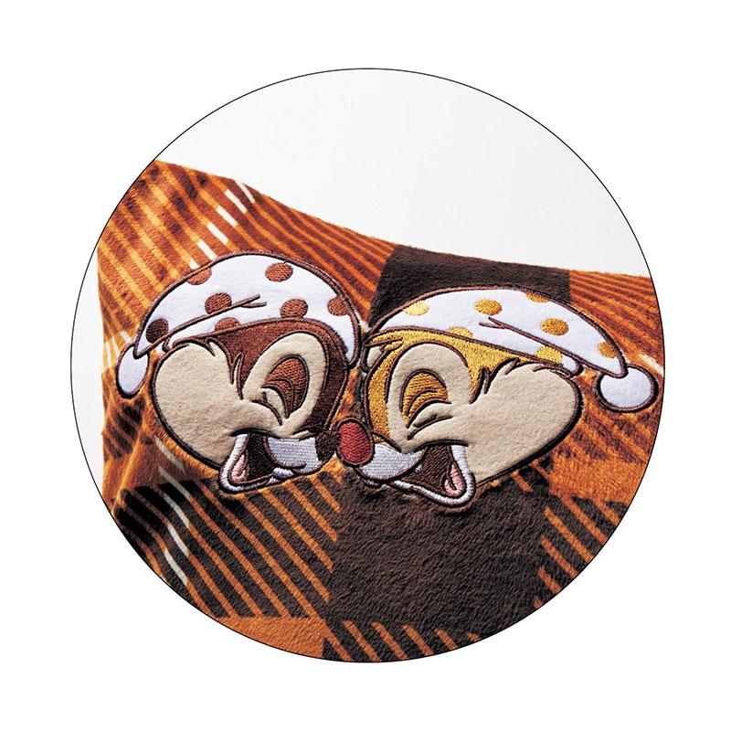 チップ&デール マイクロファイバーの布団カバー3点セット 洋式シングル チェック柄