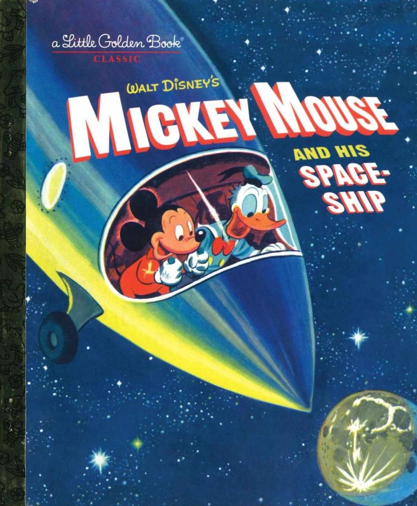 「ミッキーマウスと宇宙船」英語版絵本