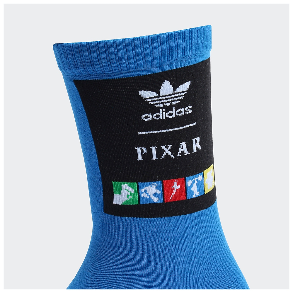 【adidas Originals】ピクサー 靴下 2足組 ホワイト/ブルーバード
