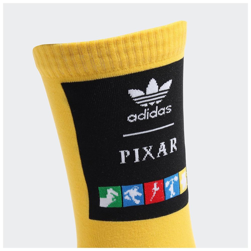【adidas Originals】ピクサー 靴下 2足組 ホワイト/ボールドゴールド