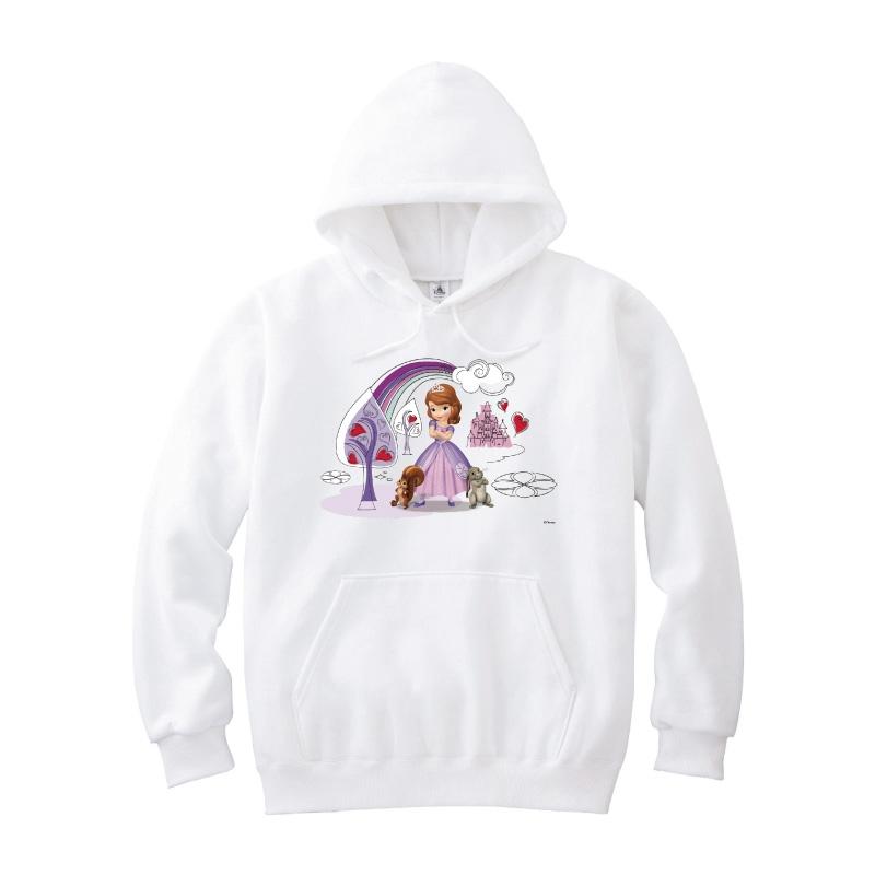 【D-Made】パーカー ちいさなプリンセス ソフィア ソフィア&クローバー&ワットノット ハート 虹