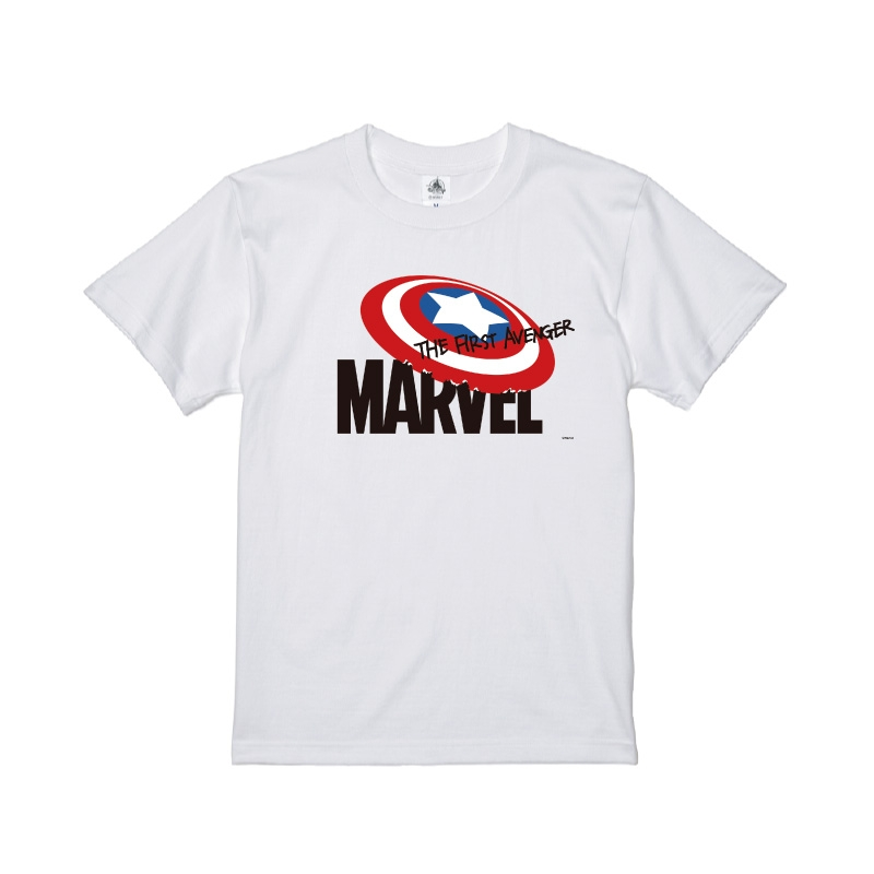 【D-Made】Tシャツ MARVEL ロゴ キャプテン・アメリカ THE FIRST ADVENGER