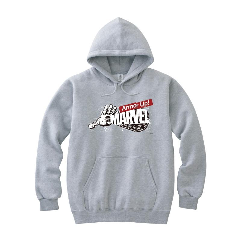 【D-Made】パーカー MARVEL ロゴ アイアンマン Armor Up!